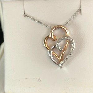 NECKLACE Diamond Accent rose Gold Over Silver $100